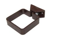 Square Pipe Clip Complete (brown)