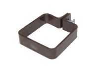 Square Plastic Clip, Nut & Bolt (brown)