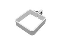Square Plastic Clip, Nut & Bolt (white)
