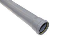 3 Metre x 82mm Single Socket Pipe (grey)