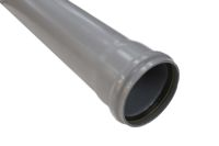 4 Metre x 110mm Single Socket Pipe (grey)