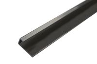 2.4 Mt Square Edging Trim (black aluminium)