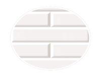 250mm Mini Metro White (3D Gloss)