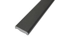 25mm x 6mm D Section (smooth black)