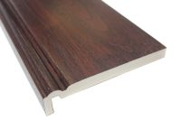 2 x 225mm Ogee Maxi Fascias (rosewood)