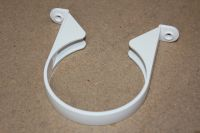 110mm Plastic Saddle Pipe Clip (white floplast)