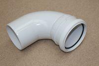 110mm x 92.5 Deg Single Socket Bend (white floplast)
