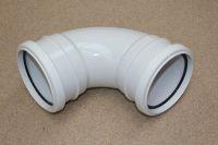 110mm x 92.5 Deg Double Socket Bend (white floplast)