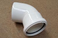 110mm x 112 Deg Single Socket Bend (white floplast)