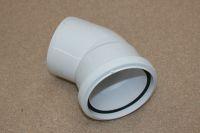 110mm x 135 Deg Single Socket Bend (white floplast)