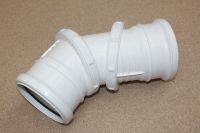 110mm Adjustable Bend 0-90 Deg (white floplast)