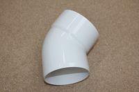 110mm x 135 Deg Bottom Offset Bend (white floplast)