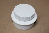 110mm x Screwed Access Cap (white floplast)