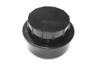 110mm x Screwed Access Cap (black floplast)