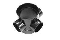 110mm Short Boss Pipe (black floplast)