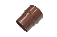 Brown 68mm Round Pipe Connector (floplast)