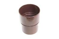 Straight Coupler Round (rustic brown)