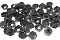 Black Plastic Screw Caps (100)