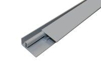 Aluminium 2 Part Lacquered Edge Trim (Grey/Silver)