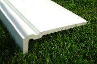 250mm Ogee Capping (white)