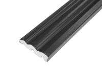 70mm x 18mm Ogee Architrave (black woodgrain)