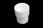Straight Coupler Round (terr white)