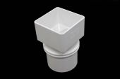 Square to Round Adaptor (terr white)