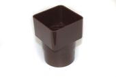 Square to Round Adaptor (brown)