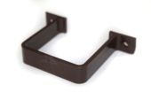 Square Flush Pipe Clip (brown)