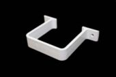 Square Flush Pipe Clip (white)