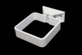 Square Pipe Clip Complete (white)