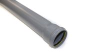 3 Metre x 82mm Single Socket Pipe (grey)